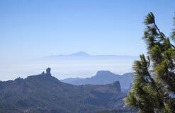 大加那利岛,从Pico de Las Nieves的看法 免版税库存图片