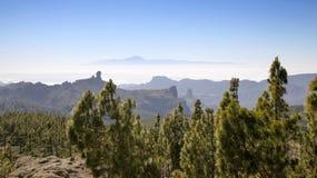 大加那利岛,从Pico de Las Nieves的看法 免版税图库摄影