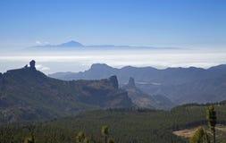 大加那利岛,从Pico de Las Nieves的看法 免版税库存照片