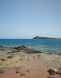 大加那利岛, Playa de El Cabron 免版税库存照片