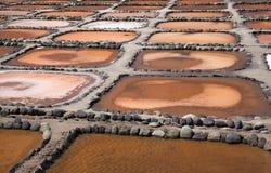 大加那利岛, Salinas de Tenefe 图库摄影