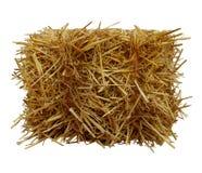 大包干草前面看法 免版税图库摄影