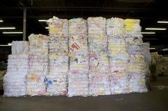 大包纸张回收 库存照片
