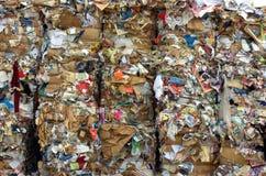 大包纸张回收 免版税库存照片