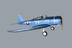 大北美T6G德克萨斯的比例模型航空器 免版税库存照片