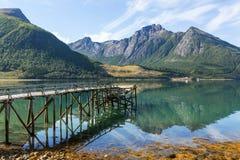 大北部挪威降雨量夏天 免版税库存照片