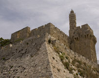 大卫以色列耶路撒冷塔 库存照片