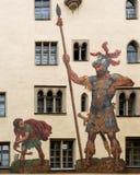 大卫和巨人在雷根斯堡德国 库存照片
