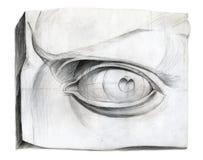 大卫图画眼睛 皇族释放例证