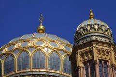 大卫星形犹太教堂顶层 免版税库存照片