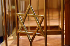 大卫星形犹太教堂 免版税库存图片
