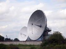 大卫星,看天空的雷达 库存照片