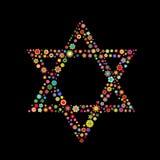 大卫王之星形状 库存例证