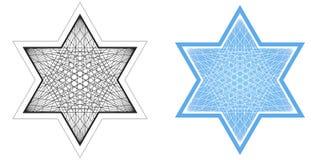 大卫王之星线描  库存例证