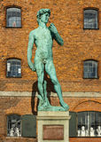 大卫纪念碑在哥本哈根 免版税库存图片