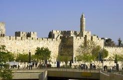 大卫老市锡安山以色列废墟耶路撒冷塔  免版税库存图片