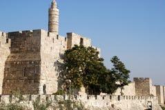 大卫耶路撒冷塔 免版税图库摄影