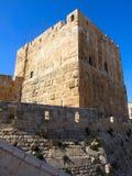 大卫耶路撒冷塔 免版税库存图片