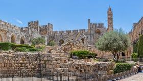 大卫耶路撒冷塔  库存照片