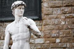 大卫雕象广场della的Signorria在佛罗伦萨,意大利 免版税库存图片