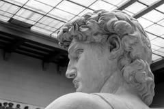 大卫雕象由意大利艺术家米开朗基罗的 库存照片