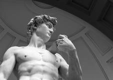大卫雕象白色大理石的 图库摄影