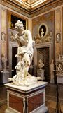 大卫, Borghese画廊的一个著名雕塑在罗马 库存照片