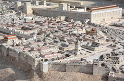 大卫A模型城市 免版税库存照片