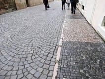大卵石石街道 库存图片