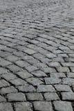 大卵石老石街道 免版税库存图片
