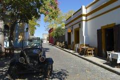 大卵石街道-科洛尼亚德尔萨克拉门托-乌拉圭 库存图片