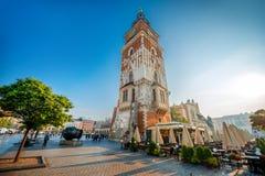 大厅克拉科夫塔城镇 免版税库存图片