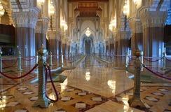 大厅内部清真寺祈祷 库存照片
