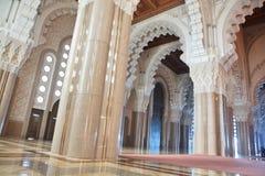 大厅内部清真寺祈祷 免版税库存照片