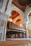 大厅内部清真寺祈祷 图库摄影