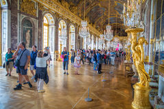 大厅反映凡尔赛 库存照片