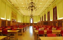 大厅图书馆研究大学 免版税库存照片