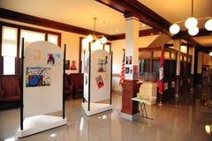 大厅在三角洲文化中心在海伦娜,阿肯色 免版税图库摄影