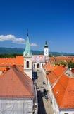 大厅城镇萨格勒布 免版税库存图片