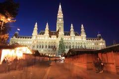 大厅城镇维也纳 免版税库存照片