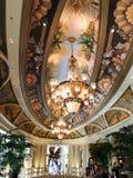 大厅天花板在威尼斯式拉斯维加斯 库存照片