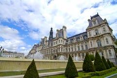 大厅巴黎城镇 库存照片
