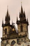 大厅布拉格城镇 库存照片