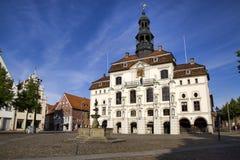 大厅有历史的lueneburg城镇 免版税图库摄影
