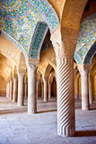 大厅清真寺柱子祷告vakil 库存照片