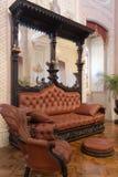 大厅的历史的内部 城堡在辛特拉 库存照片