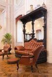大厅的历史的内部 城堡在辛特拉 免版税库存图片