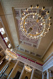 大厅的枝形吊灯Stadtschloss的在威玛 库存照片