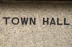 大厅符号城镇 库存照片