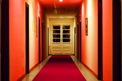 大厅红色 免版税库存图片